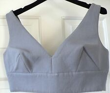 Miu Miu grey runway top beautiful £200 IT40 UK8