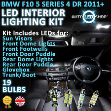 BMW 5 SERIES F10 2010  WHITE LED INTERIOR LIGHT SET BULBS XENON SMD CANBUS