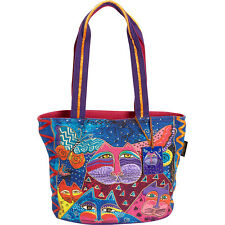 Laurel Burch Cats with Butterflies Medium Tote - Multi