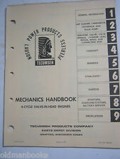 TECUMSEH MECHANICS HANDBOOK MANUAL 4 CYCLE VALVE IN HEAD 1975 ORIGINAL OME