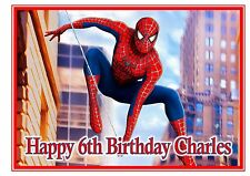 Spiderman personalised A4 cake topper icing sheet
