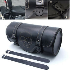 Motorcycle Front Rear Fork Leather bag Storage For Harley Softail Sportster Dyna
