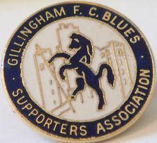Gillingham vintage partisans association badge broche épingle en doré 25mm x 25mm