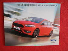 Ford Focus Zetec S Red and Black Edition Brochure/Leaflet August 2015