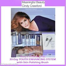 NEW Meaningful Beauty Cindy Crawford 30-Day YOUTH ENHANCING SYSTEM + Skin Brush
