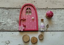 Fairy Door Dinky Door Gift Set Dotty Pink