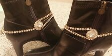 BOOT BRACELETS ~* BLING *~ GoLD And CRYSTALS RhiNESTONES