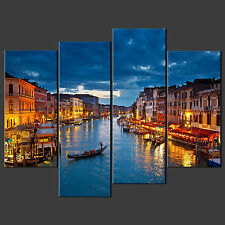 VENICE SUNSET CANVAS WALL ART PICTURES PRINTS DECOR LARGER SIZES AVAILABLE