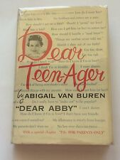DEAR ABBY ABIGAIL VAN BUREN SIGNED Dear Teen-Ager 1959 BOOK CBS Radio Advice