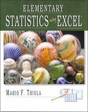 Elementary Statistics Using Excel by Mario F. Triola (2000, CD-ROM / Paperback)