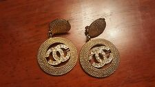 Authentic Chanel Clip On Earrings w/Rhinestones