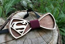 Bow tie eco wood men accessories new style Superman Comics Handmade Wooden bow