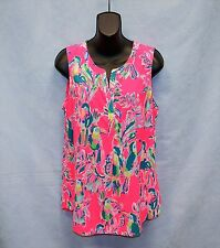 B0 NWT Authentic LILLY PULITZER Sleeveless Stacey Dragon Fruit Top Size M $98