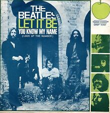 The Beatles ‎– Let It Be 45 Italian Issue with Error and insert very rare