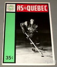 1963-64 AHL Quebec Aces Program Bill Sutherland Cover