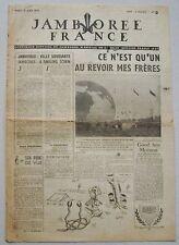 Jamborée France 6 - 21 Aout 1947 ; Journal N° 14 du 19 Août  Scouts P JOUBERT