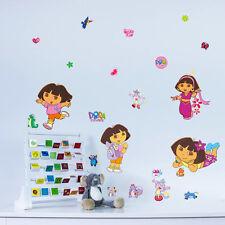 Dora Girls gift kids room decor Wall sticker PVC wall decals Cartoon Mural decor