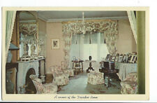 Vintage Rare Postcard Dresden Room in Roosevelt Room Queen Mary King Georg  # 82