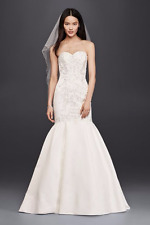 Vestido de Boda Nueva Trompeta Davids Bridal con Encaje Blusa