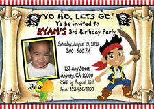 JAKE PIRATES CUSTOM PRINTABLE BIRTHDAY PARTY INVITATION & FREE THANK U CARD
