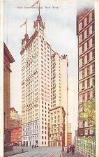 New York City postcard Park Row Building street scene