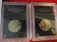 2 lot Susan B anthony US silver dollar 1979 1999 Brilliant uncirculated $1