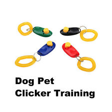 Click Clicker Obedience Training Trainer Aid Wrist Strap for Puppy Dog Pet
