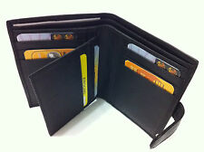 Mens Wallet w/ 9 Credit Card Holder - Black (AE-11)