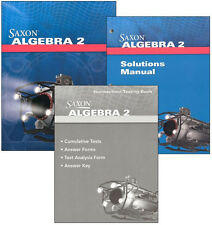 Saxon Algebra 2, 4th Edition Complete Homeschool Kit With Solutions Manual NEW!