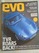 Evo No 20 Jun 2000 Clio Sport 172 vs rivals, Cerbera buying guide, TVR Tuscan