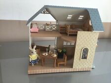 Sylvanian Families Riverside Lodge Fully Furnished + Figures