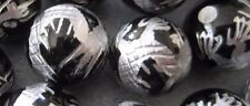 Black Carved Silver Dragon Onyx Round Beads 12mm 3pcs