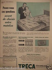 PUBLICITÉ 1953 TRÉCA LE SEUL MATELAS A SUSPENSION PULLMAN - ADVERTISING