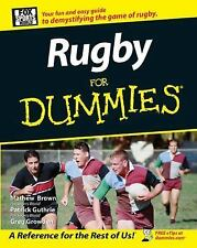 Rugby For Dummies, Growden, Greg, Brown, Mathew, Guthrie, Patrick, Acceptable Bo