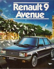 Renault 9 Avenue Limited Edition 1984 UK Market Sales Brochure