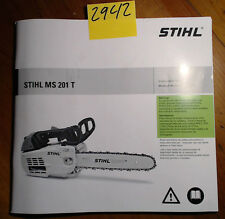 Stihl MS 201 T Chainsaw Owner's Operator's Instruction Manual 0458-578-8621-A