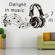 MUSIC NOTES PLAY WRITE Wall Sticker Removable Home Mural Decal Vinyl Art Decor