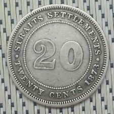 *Very Scarce + Key Date * Straits Settlements - 1873 - 20 Cents Victoria #CCXL
