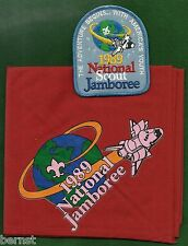 BOY SCOUT 1989 JAMBOREE NECKERCHIEF AND POCKET PATCH - FREE SHIPPING        XX