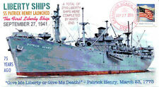 COVERSCAPE computer designed 75th anniversary 1st Liberty Ship WWII event cover