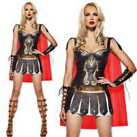 Womens Xena Princess Fancy Dress Medieval Gladiator Warrior Queen Costume