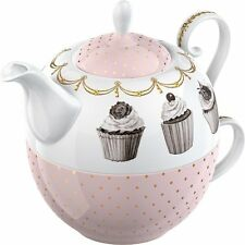 Katie Alice CUPCAKE COUTURE TEA FOR ONE - Teapot + Cup Set Fine China