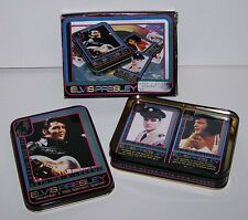 ELVIS PRESLEY Playing Cards Collector Tin Box Rock N Roll History Game Deck *NEW
