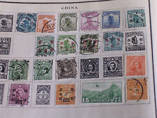 18 Different 1920s-1930s China Stamps Including 1 Airmail/Hinged/Used