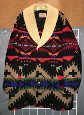 Vtg BRIGHT! Pendleton High Grade Western Wear Indian Blanket Coat 44""