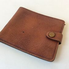 vintage pigskin leather wallet