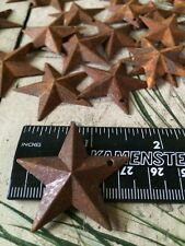 LOT OF 100 Rusty Stars 1.5 in 1 1/2 Primitive Country Crafts Rust SHIPS FREE!