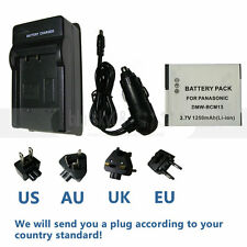 Battery +Charger For Panasonic Lumix DMC-ZS40, DMC-ZS45, DMC-ZS50 Digital Camera