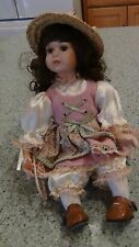 """Little Bo Beep"" by Seymore Mann ""Storybook Tiny Tots"" Porcelain Doll 8"" Sitting"
