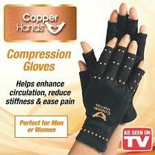Copper Hands Arthritis Gloves As Seen on TV Therapeutic Compression Brace L/XL